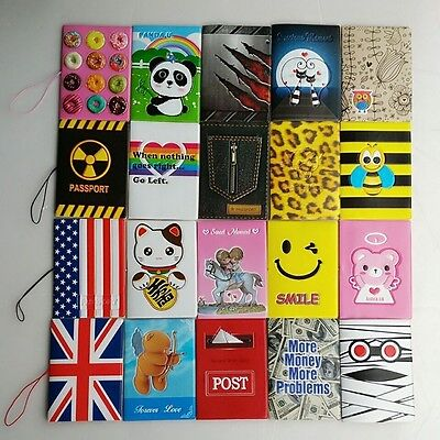 PVC Passport Holder ID Card Cover Travel Wallet Card Case Organizer Protector