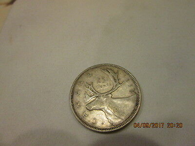 vintage Canada Canadian silver 25 cent quarter 1938