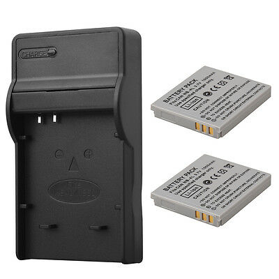 2x 1000mAh NB-4L Battery Pack + Charger For Canon IXUS 40 50 55 60 65 80 100