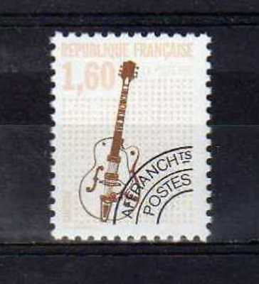 """FRANCE PREOBLITERE TIMBRE STAMP 213 a """" MUSIQUE , GUITARE """" NEUF xx LUXE"""