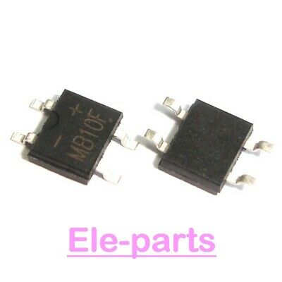 100 PCS MB10F SOP-4 MB10 SMD-4 Mount Flat Bridge Rectifier