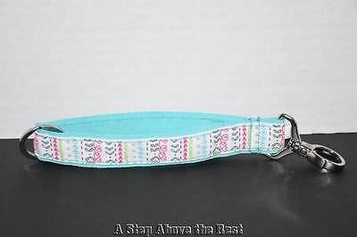 Thirty One Hang it up Key Fob in Turquoise With Heart Detail - NEW