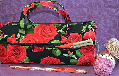 KNITTING/CRAFT BAG - Zip Opening, Fully Lined, Side Pocket - Choose Your Colour