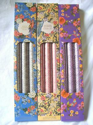 New Boxed 9 Scented Drawer Liners Ornate Vines Flower Pattern Sil Vc0015 3 Boxes
