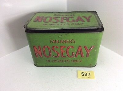 Vintage Faulkner's Nosegay Display Tin