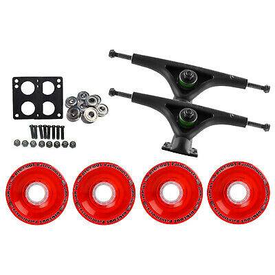 Bear 852 Black Longboard Trucks Wheels Package Bigfoot 70mm Pathfinders Red