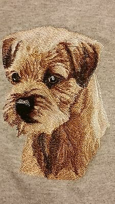 Embroidered Men's Polo - Border Terrier BT3415 Size S - XXL