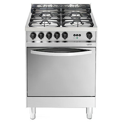 Lofra X66GV gas stove, 4 burners, gas oven 66 litres, class A 60x60 cm IE