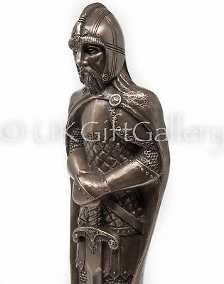 King Arthur Statue by Design Clinic Bronze Medieval Knight Sculpture 42cm 16027