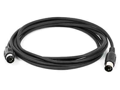 Monoprice 10ft MIDI Cable - Black With Keyed 5-pin DIN Connector