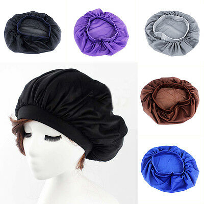 Purple Silk Night Cap For Long Curly Hair Care Scarves Bonnet Sleep Sleeping Hat