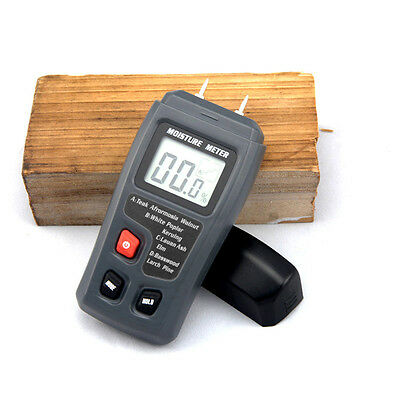 Digital Wood Moisture Meter Humidity Measuring tool Accuracy 0.5% Range 0~99.9%