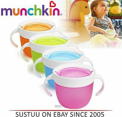 Munchkin Click Lock Deluxe Snack Catcher Baby Feeding Bowl Pink/Blue/Green/Org