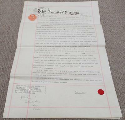 Earl of Ilchester Vintage 1946 Transfer of Mortgage Indenture - Pulborough