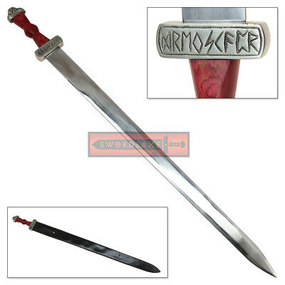 Viking Honor Dueling Sword Stainless Steel Blade Hardwood Grip Drengskapr Runes