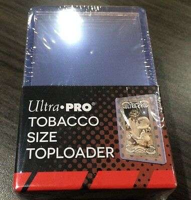 Ultra Pro Package of 25 Tobacco Toploaders Plastic Card Sleeves 1 15/32x2 11/16