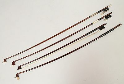 Vintage Early 20c Estate Found Group 4 Violin Bows For Parts & Restoration