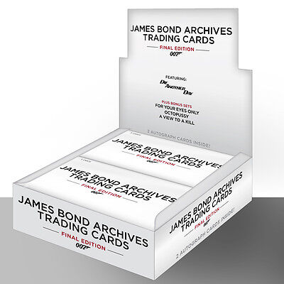 James Bond Archives the Final Edition - One (1) Factory Sealed Trading Card Box
