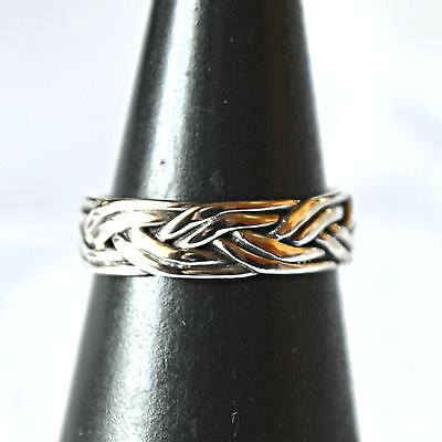New Toe or Pinkie Ring Weave Design Solid 925 Silver~Reiki~Wicca~Pagan Jewellery