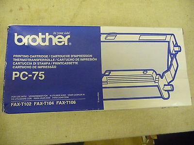 Fax machine cartridge Brother FAX T102 T104 T106  PC-75 Plain Paper Fax Machine
