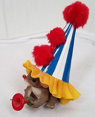Charming Tails mouse clown hat Cheers birthday