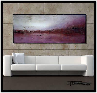 ABSTRACT PAINTING MODERN CANVAS WALL ART Large 60in US signed ELOISExxx