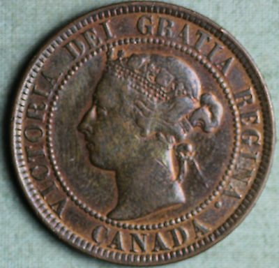 1901 Canada Large Cent 1 Cent Queen Victoria Key Date~Combined S.& H.