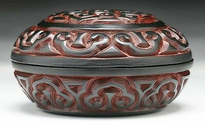 A Chinese Antique Lacquer Tixi Box With Cover, Qing Dynasty