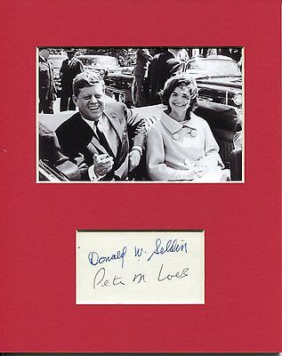 Donald Seldin Peter Loeb Doctor Tried To Save JFK Signed Autograph Photo Display