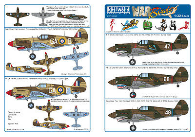 Kits-World decals 1/32 P-40B Tomahawk # 32030