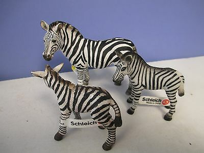 Schleich ZEBRA and (2) Foals with tags LOT