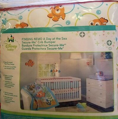 Finding Nemo Secure Me Crib Bumper ~New Disney A Day at the Sea