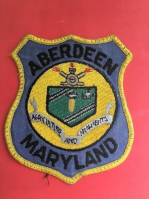 Aberdeen Maryland Police Shoulder  Patch   Old Used