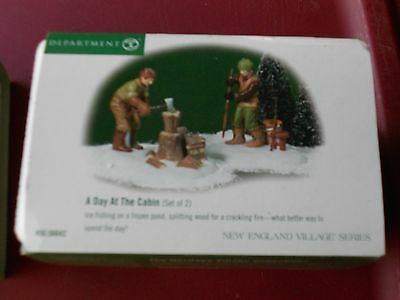 DEPT 56  NEW ENGLAND VILLAGE Accessory A DAY AT THE CABIN NIB