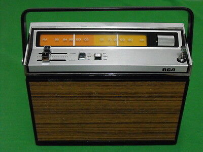 Rca Rzm 176E Am Fm Radio Vintage 1974 Made In Japan Ac Dc Portable Tested Works