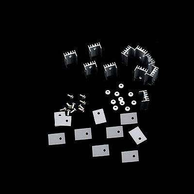 High Quality New Aluminum Heat Sink For TO-220 Transistor Quali 10pcs