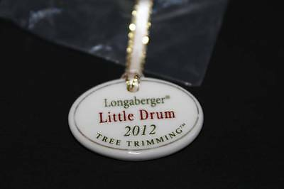 Longaberger 2012 Tree Trimming Little Drum Tie On #24185 - NEW