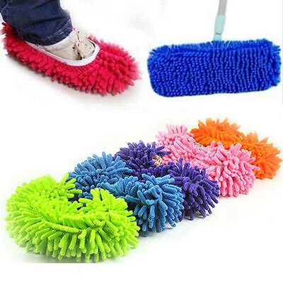 Home Dust Floor Cleaning Slippers Shoes Cloth Housework Lazy Soft Slipper Shoes