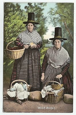 o wales welsh postcard welsh women in costume