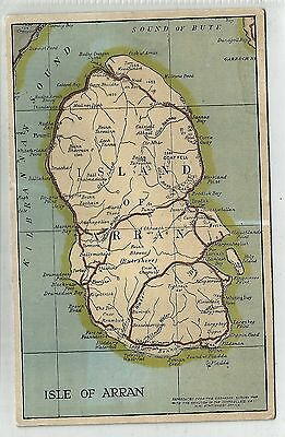 n scotland scottish postcard isle of arran map