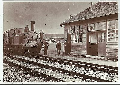 n scotland scottish postcard wanlockhead railway station