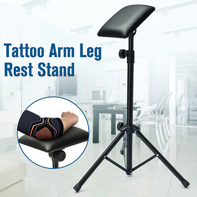Fully Adjustable Tripod Stand Tattoo Arm Leg Rest Studio Chair Bed Portable