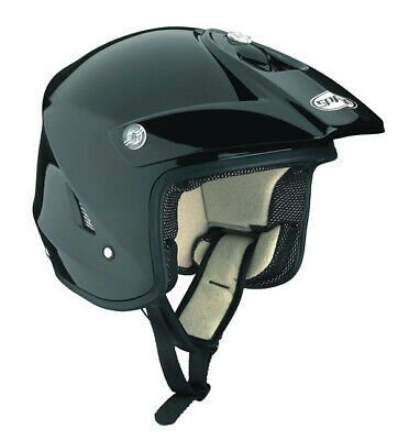 Spada Edge Open Face MX Motocross ATV Off Road Enduro Trials Helmet - Gloss Blk