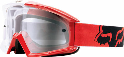 Fox Main Imperial Mx 180 Goggles  Adult Dirt Bike Red White Race