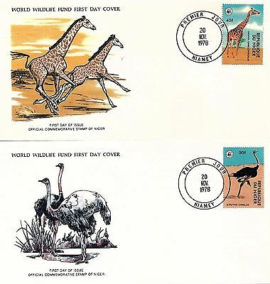 NIGER - First Day Covers 1978 World Wildlife Fund (3)