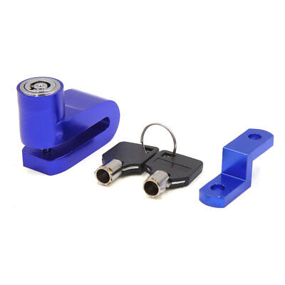 Blue Motorcycle Motorbike Anti-thief Safety Security Disc Lock System w 2 Keys