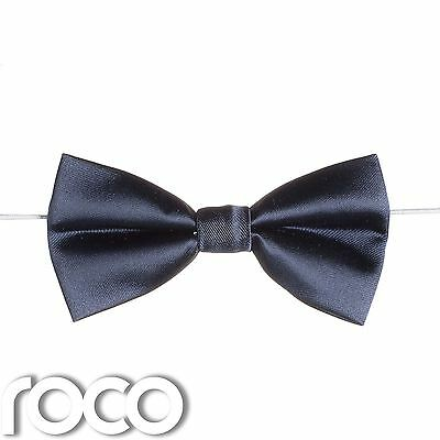 Boys Navy Elasticated Dickie Bow Tie Page Boy Wedding Prom Dickie Bows