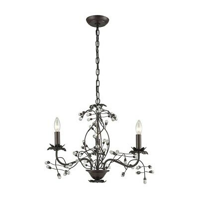 """Sterling Ind. Oberon 3 Lt Chandelier 21x21x17"""", Oil Rubbed Bronze, Clear - D3398"""