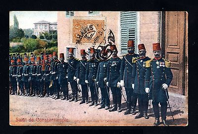 15023-TURKEY-MILITARY POSTCARD SMYRNE to GIRONDE(france)1909.WWI.Turquie.Soldier