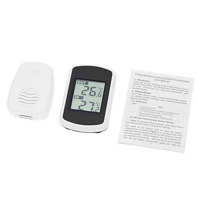 Indoor Outdoor Wireless Digital LCD Screen Thermometer Ambient Weather HS851